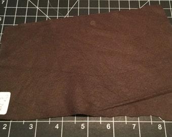 DARK CHOCOLATE Supple Lambskin Leather Hide Piece #2