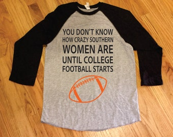 Southern Women and Football Tee