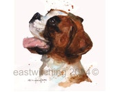 Puppy art, BULLDOG print, corgi, dog portrait, dog lover gift