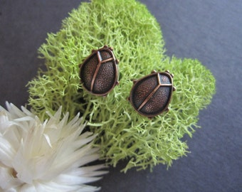 Ladybug Earrings, Bug Earrings, Insect Earrings, Bug Jewelry, Woodland Bug, Pierced, Ladybug Lover, Gifts For Her, For Teens, Petite, Tiny