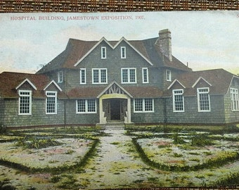 Jamestown Exposition VA Hospital Building 1907 Postcard