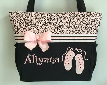 BALLET Shoes   .... Tote ...  Diaper Bag .. Personalized  Free