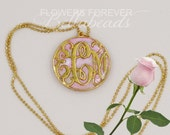 Memorial Necklace,Flower Petal Jewelry,Personalized Memorial Jewelry,Memorial Beads,Keepsake Jewelry,Gift Idea,Monogram Pendant