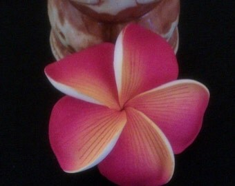 ON SALE plumeria, hawaiian hair flower, plumeria hair barrette, plumeria, flower clip, hair clip,hawaii, hair flower