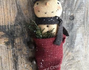 Olde Time Christmas Primitive Snowman Stocking Pattern