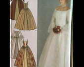 Ren Goth Princess Seam Historial Reenactor Claire Wedding Dress Gown Sewing Pattern FABULOUS Sleeves 4731 4 6 8 10