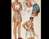 Vintage 40s Men's Button Fly Front Boxer Shorts Skivvies Underwear Sewing Pattern 1960 W32