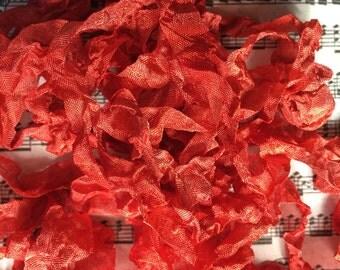 Hand dyed crinkle ribbon Barn Door seam binding crinkly stained ribbon TeamHaha Hafair OFG ADO Nooga Norga Mha Ellijay