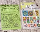 Quilters Grafix Paper & Aunt Martha's quilt PlasticTemplate Set