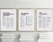 "16"" x 20"", 24"" x 30"" THREE PACK LDS Modern Proclamation to the Family, Articles of Faith, and The Living Christ You Print Printable"