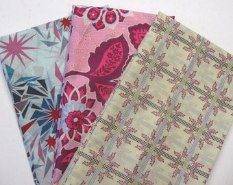 Free Spirit 3 Piece Assorted Designers Cotton VOILE Fabric Remnant Pack