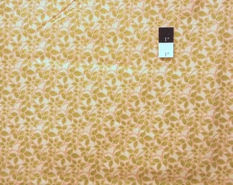 Victoria and Albert PWVA041 Vintage Florals Vine Honeydew Cotton Fabric 1 Yard