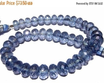 55% OFF SALE 8 Inches - Finest Quality Blue Mystic Quartz Micro Faceted Rondelles Size 7 - 7.5mm Stunning Quality Great Price