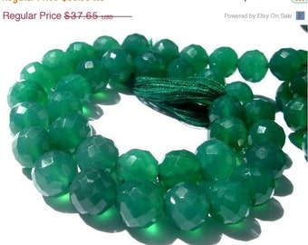 "55% OFF SALE 8"" 8mm Finest Quality Soo Gorgeous Natural Green Onyx Micro Faceted Round Ball Beads // Gemstone Beads // Semiprecious Stone Be"
