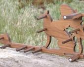 Card / Inkle weaving loom  - Walnut Wood Griffen