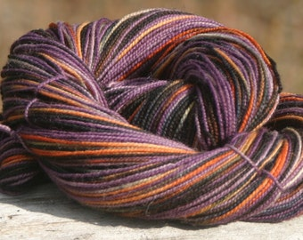 Handpainted Twist Sock Yarn - 80/20% Superwash Blue Faced Leicester Wool / Nylon - Zombie Dawn