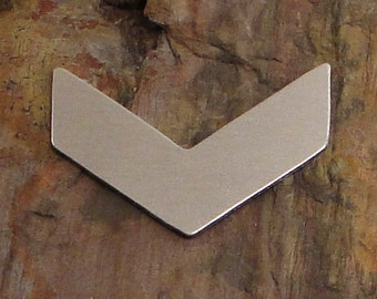 "5 Deburred 1 1/2"" CHEVRON *Choose Your Metal* Aluminum Brass Bronze Copper Nickel Silver Stamping Blanks"