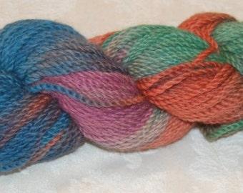 Blue, Green, Orange, Purple 100% Alpaca Yarn