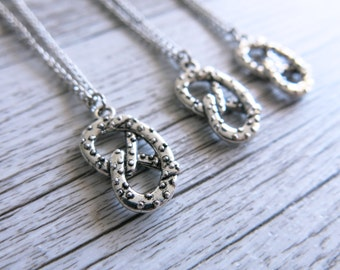 Silver Pretzel Necklace