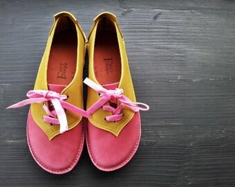 SALE. UK 5, Handmade Ladies Shoes, Fairytale Shoes BINKY 2998 mischief, mustard