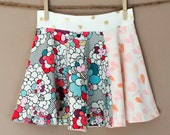 shortees dancer twirly skirt : pop art flowers, hearts & dots - available in infant and big girl sizes