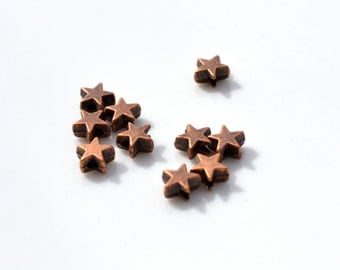 Antique Copper Star Beads  20