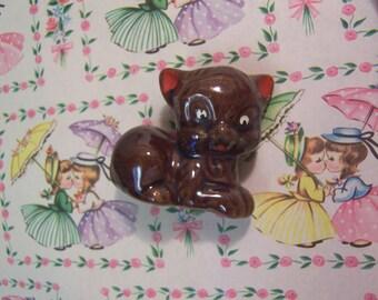 lil brown kitten figurine