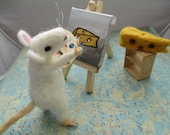 Say Cheese! Needle Felted Artist Mouse