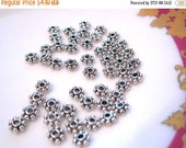 50% Off 50 pcs of Antique silver flower spacer Daisy spacer 4x1.5mm MB 003