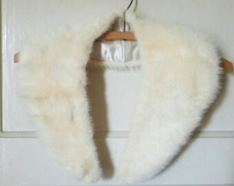 Vintage 50s Rabbit Collar, Fur