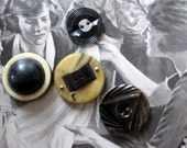Vintage Large and Art Deco Buttons, Collectibles, Unusual Designs