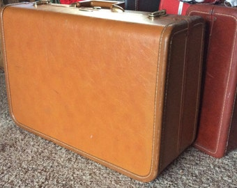 VINTAGE TAPERLITE SUITCASE, cinnamon, gorgeous interior, travel bag, luggage, carry on