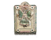 Fairy Child Assemblage, Miniature Collage, Summer Garden Fairy, Small Girl Fairy Wings, Mixed Media Art Collage, Fantasy Fairy Artwork,