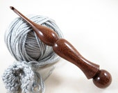 Hand-Turned American Black Walnut Wood Crochet Hook