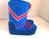 Vintage moon boots ski boots mens size 7 8 eighties ski