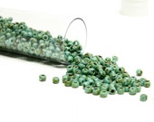 Turquoise Green Picasso TOHO Seed Beads size 11o
