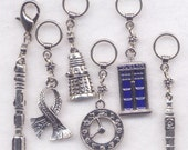 Dr Who Stitch Markers Time Lord Tardis Whovian Dalek Sonic Screwdriver Set of 6/SM235