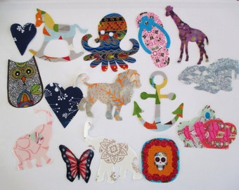 "18 Girl Iron On Appliques 4"" Set"