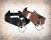 Curvy Leather Collar, Leather Bondage Collar, Leather Choker, Slave Collar, BDSM Collar, Leather Collar (1 Collar Only)