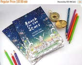 ON SALE Coloring Book for Grown-Ups Reach for the Stars |   adult coloring book for adults, 16 pages, mindfulness, inner stength | by Meluse