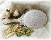 Shabby  Chic Ornate Handheld Vanity  Mirror ~ Romantic Chic ~ Vintage Chic