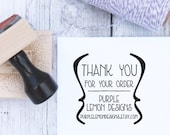 Custom Business Stamp - French Brackets Thank You, Etsy Stamp, Self Inking Stamp, Business Stamp, Rubber Stamp, Thank You Stamp
