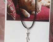 What Greater Gift Than The Love Of A Cat? Card and Cat Necklace Set