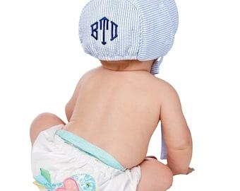 Monogrammed Baby Bonnet