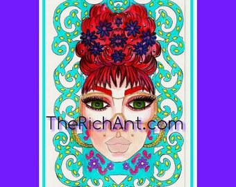 TheQueensofRich 5x7 print 2