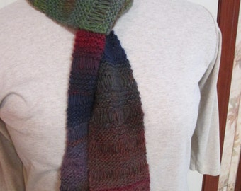 Knitted Drop Stitch Scarf