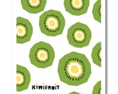 Kiwi Fruit print, Geometry, Vegetable, Fruit, Drawings, Illustration, Decorative art, Kitchen Art, Botanical Art