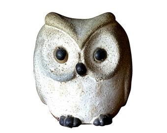 1960s Owl Planter, Ceramic Stoneware Container Vase, Mid Century Home Decor