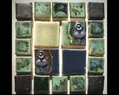 "Handmade Mini-Mosaic 4"" Tile Set: Dancers"
