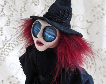 Ida Mistlewood - Gothic Victorian Witch Art Doll